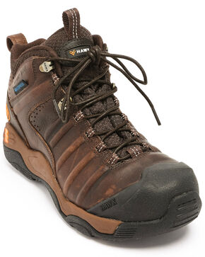 Hawx® Men's Axis Waterproof Hiker Boots - Composite Toe, Brown, hi-res