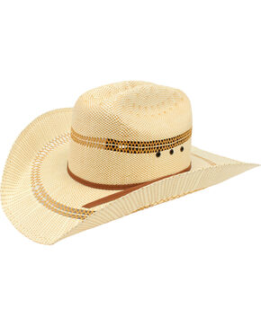 Ariat Men's Bangora Straw Cowboy Hat, Tan, hi-res