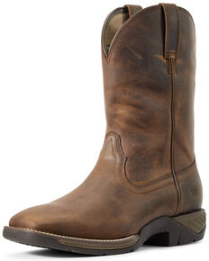 Ariat Men's Ranch Western Work Boots - Soft Toe, Brown, hi-res