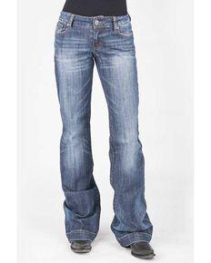 Stetson Women's Blue 214 Trouser Fit Jeans, Blue, hi-res