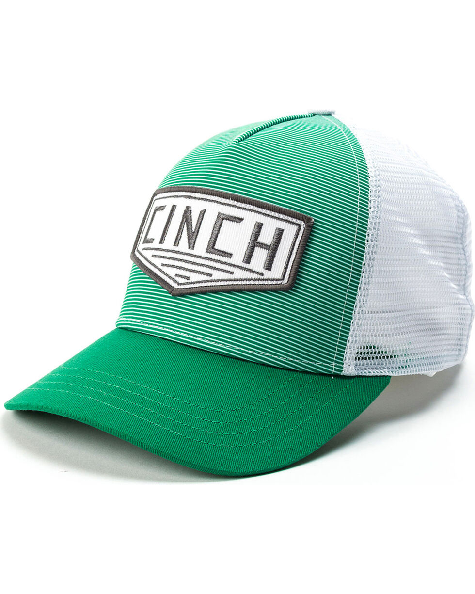 Cinch Men's Green Trucker Logo Cap, Multi, hi-res
