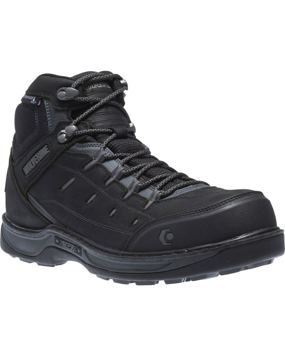 Wolverine Men's Edge LX Waterproof Work Boots - Composite Toe, Black, hi-res