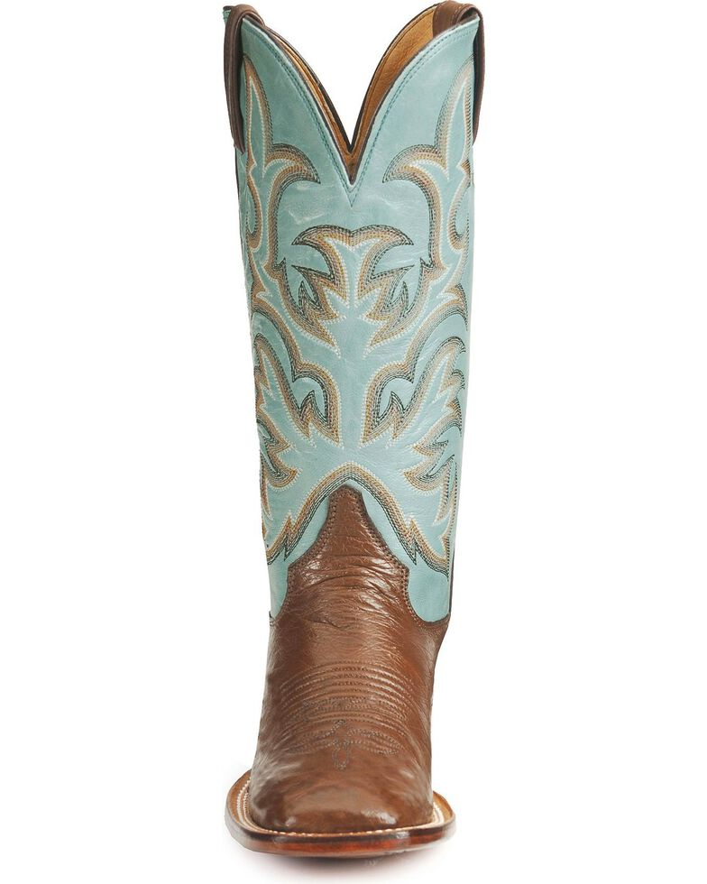 """Justin Boots Women's AQHA REMUDA Smooth Ostrich 13"""" Western Boots, Antique Brown, hi-res"""