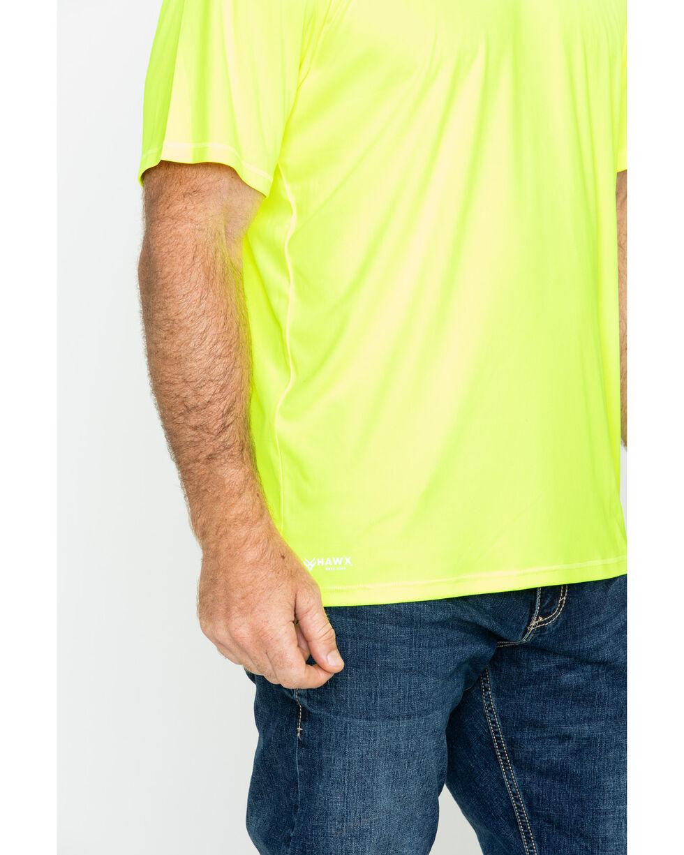 Hawx® Men's Short Sleeve Color-Enhanced Cooling Work Tee , Yellow, hi-res