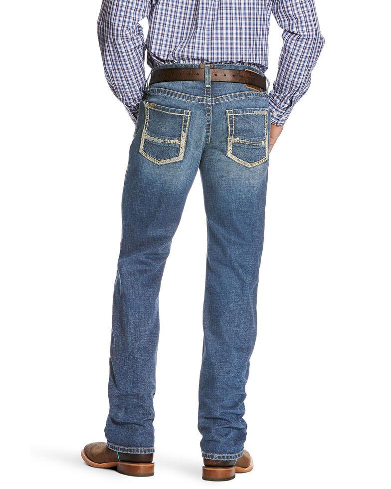 Ariat Men's M5 Nolan Slim Stackable Stretch Straight Leg Jeans - Big , Blue, hi-res