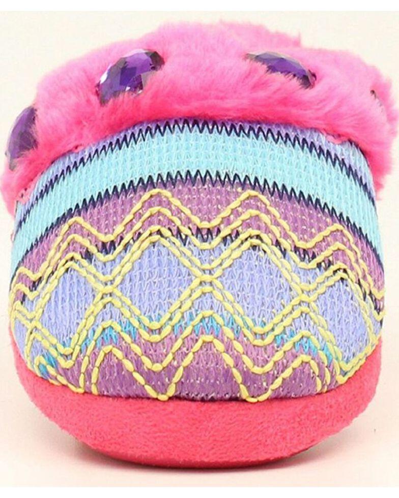 Blazin Roxx Girls' Colorful Woven Scuff Slippers, Pink, hi-res