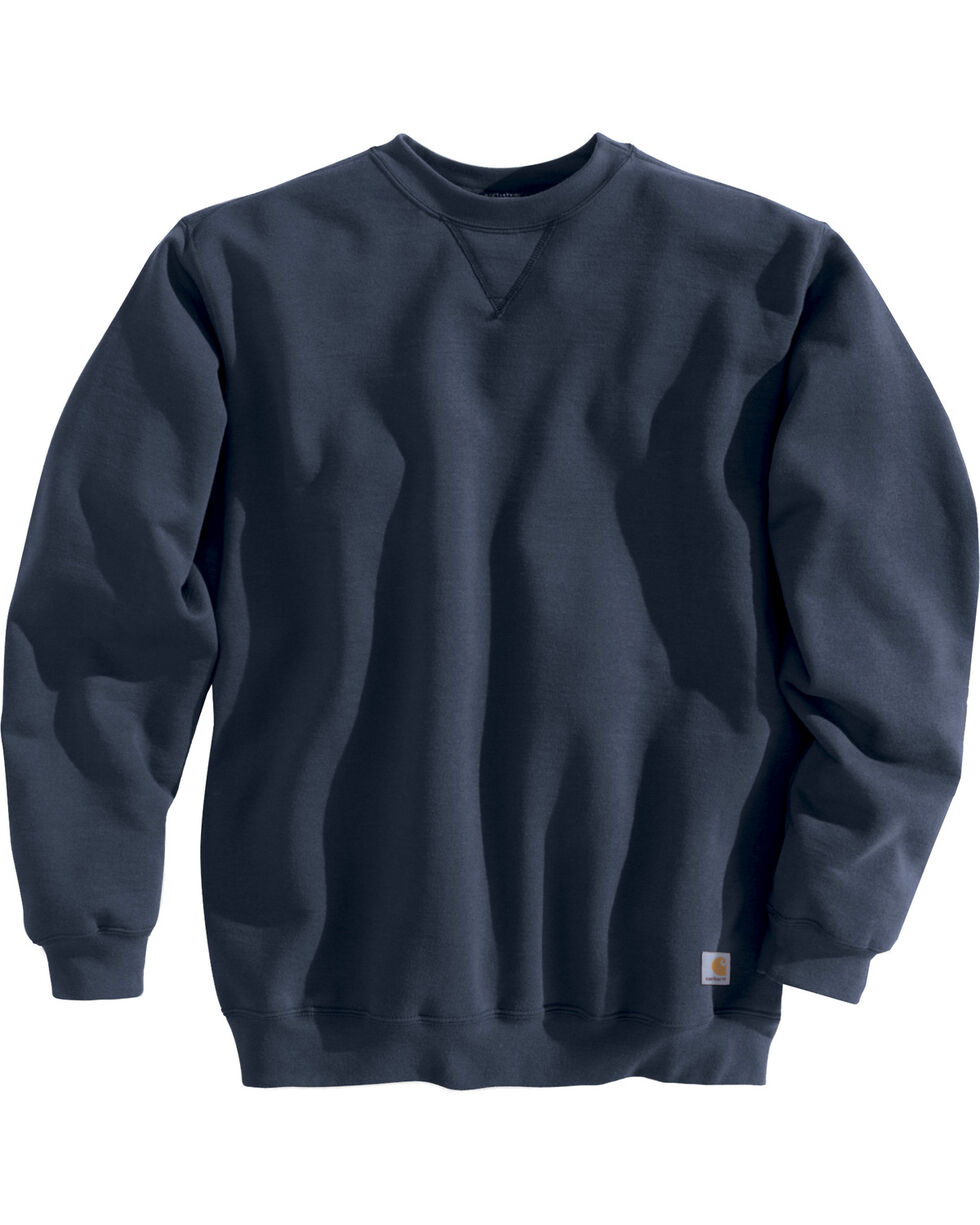 Carhartt Men's Midweight Crewneck Sweater, Navy, hi-res