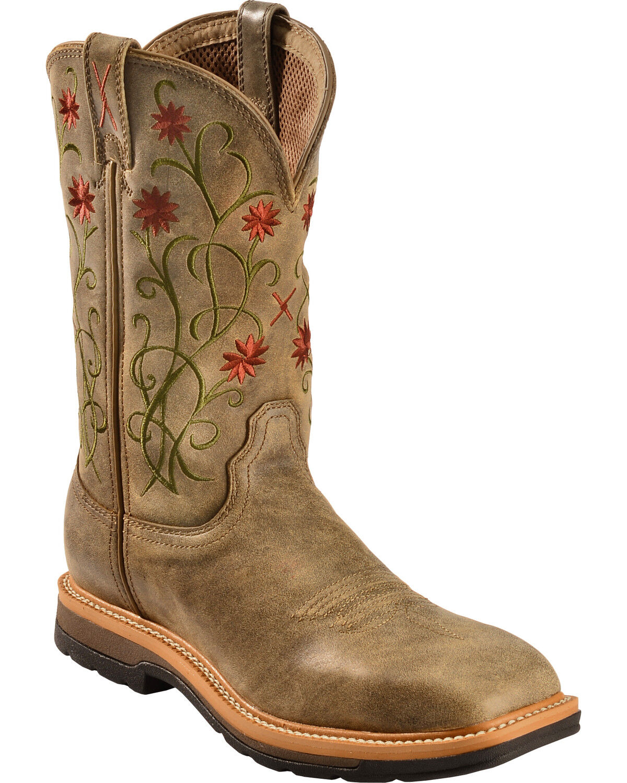 Twisted X Women's Floral Steel Toe