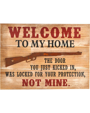 BB Ranch Welcome Gun Sign, Red, hi-res