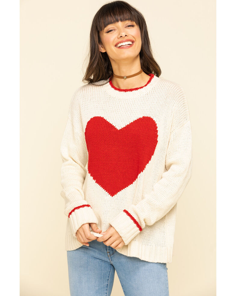 Show Me Your Mumu Women's Sweetheart Sweater, Ivory, hi-res
