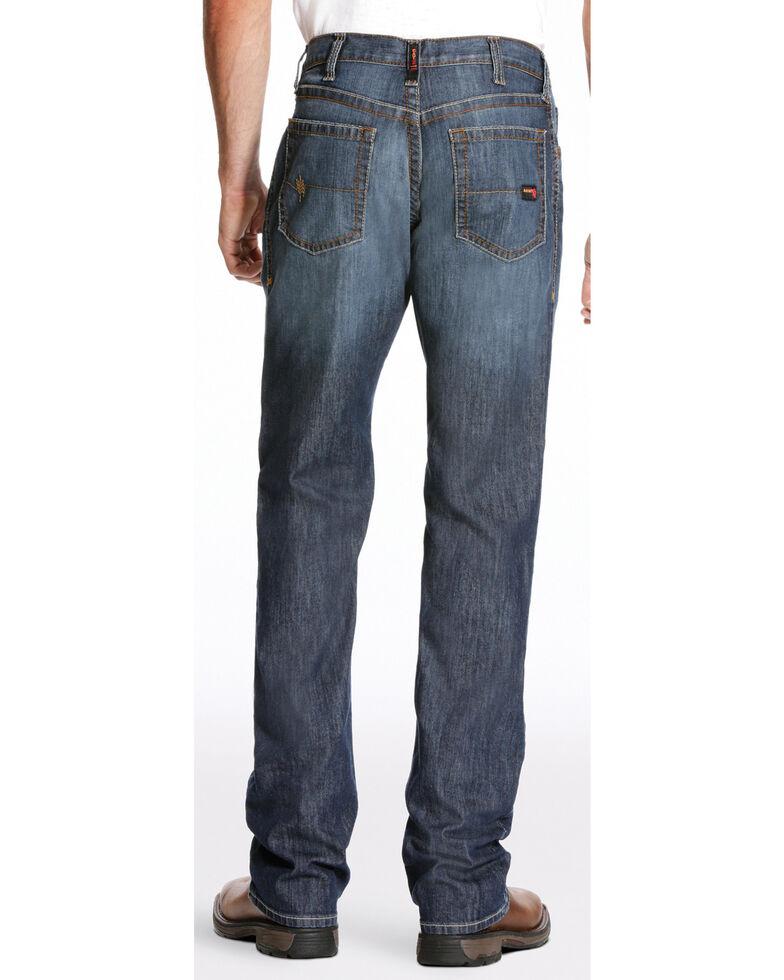 Ariat Men's FR M4 Inherent Basic Low Rise Bootcut Jeans - Big, Dark Blue, hi-res