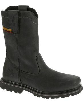 Caterpillar Men's Black Wellston Work Boots - Steel Toe , Black, hi-res