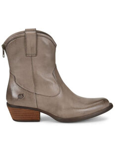 Born Women's Wynd Western Booties - Round Toe, Grey, hi-res