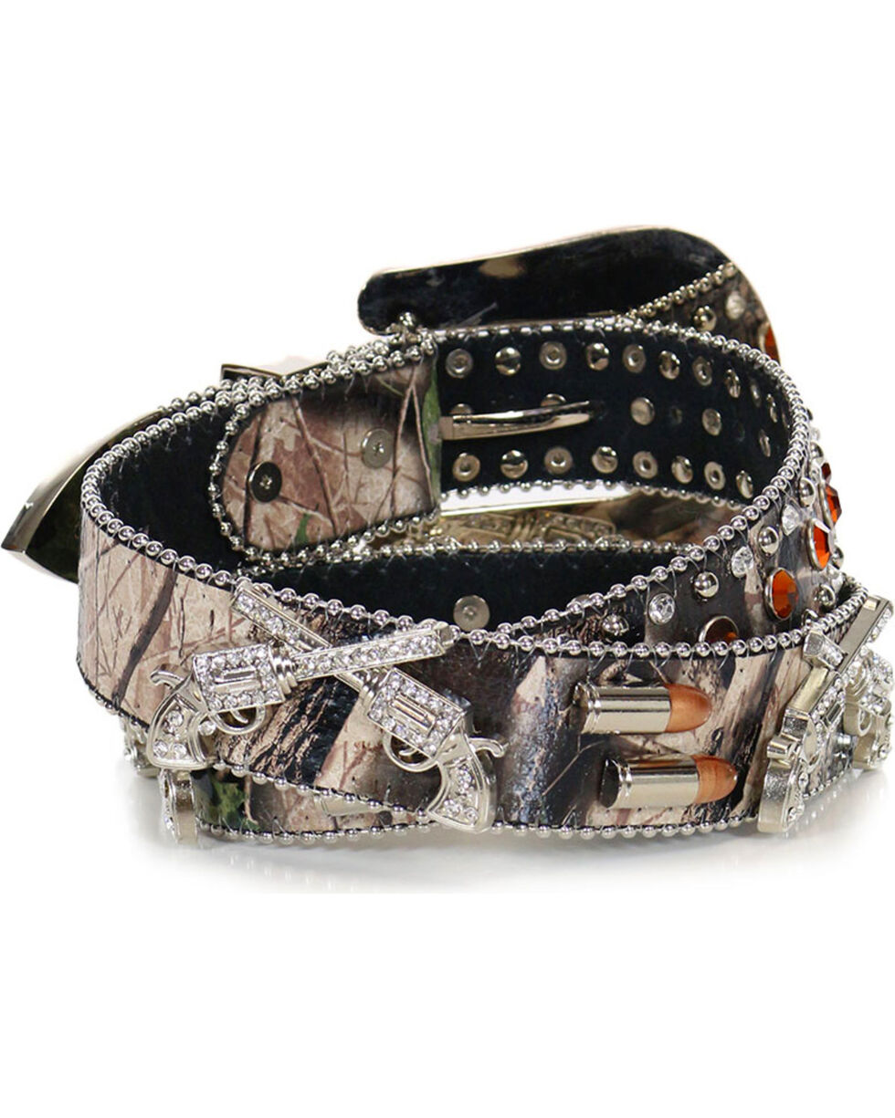 Angel Ranch Women's Sharpshooter Camo Belt, Camouflage, hi-res