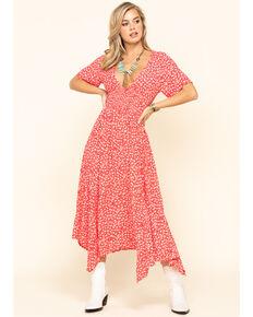 Free People Women's In Full Bloom Dress, Red, hi-res