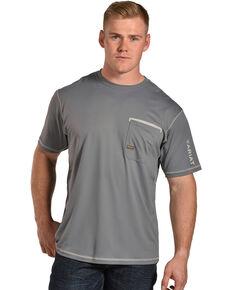Ariat Men's Rebar Freeze Point Crew Short Sleeve Work T-Shirt , Grey, hi-res
