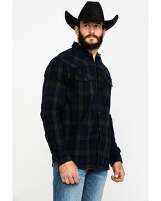 Cody James Men's Moss Landing Plaid Long Sleeve Western Flannel Shirt , Black, hi-res