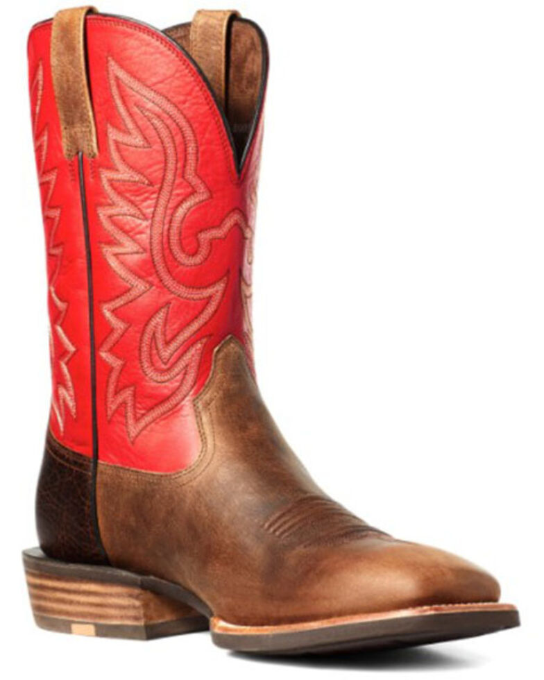 Ariat Men's Rover Rustic Western Boots - Wide Square Toe, Brown, hi-res