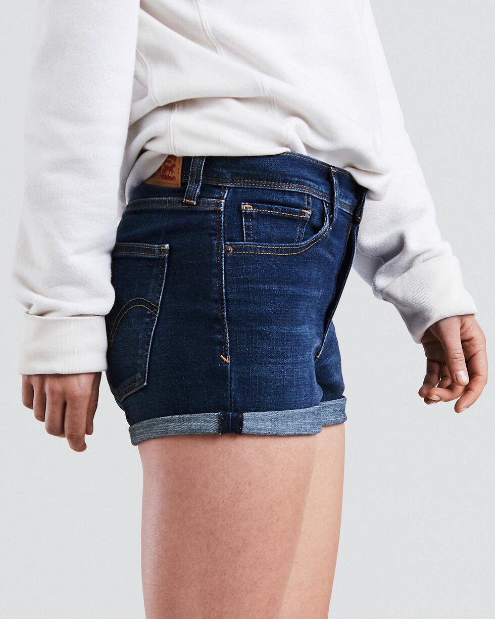 Levi's Women's Blue Forest High Rise Shorts, Indigo, hi-res