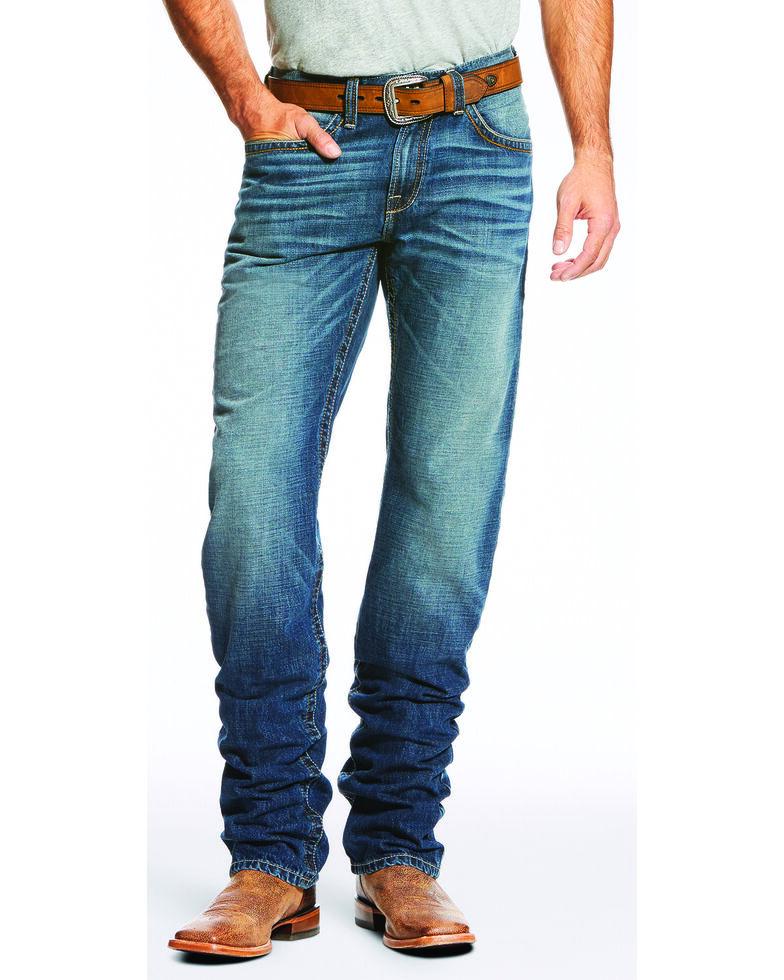 Ariat Men's Blue M2 Relaxed Fit Jeans - Boot Cut , Blue, hi-res