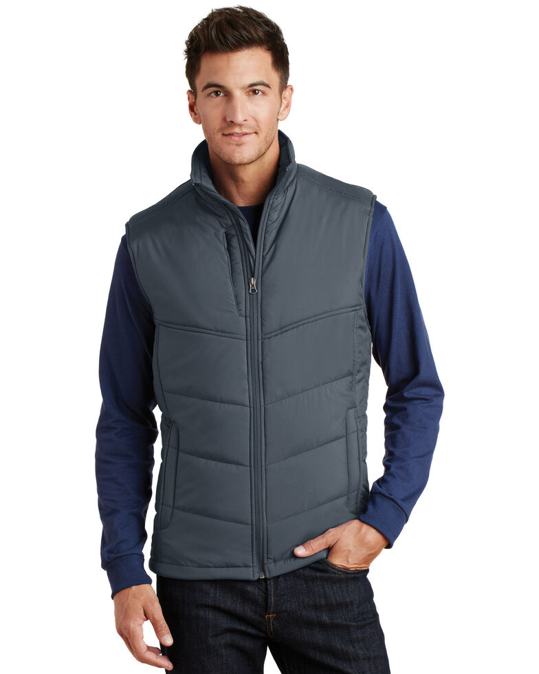 Port Authority Men's Slate 3X Puffy Polyfill Work Vest - Big , Multi, hi-res