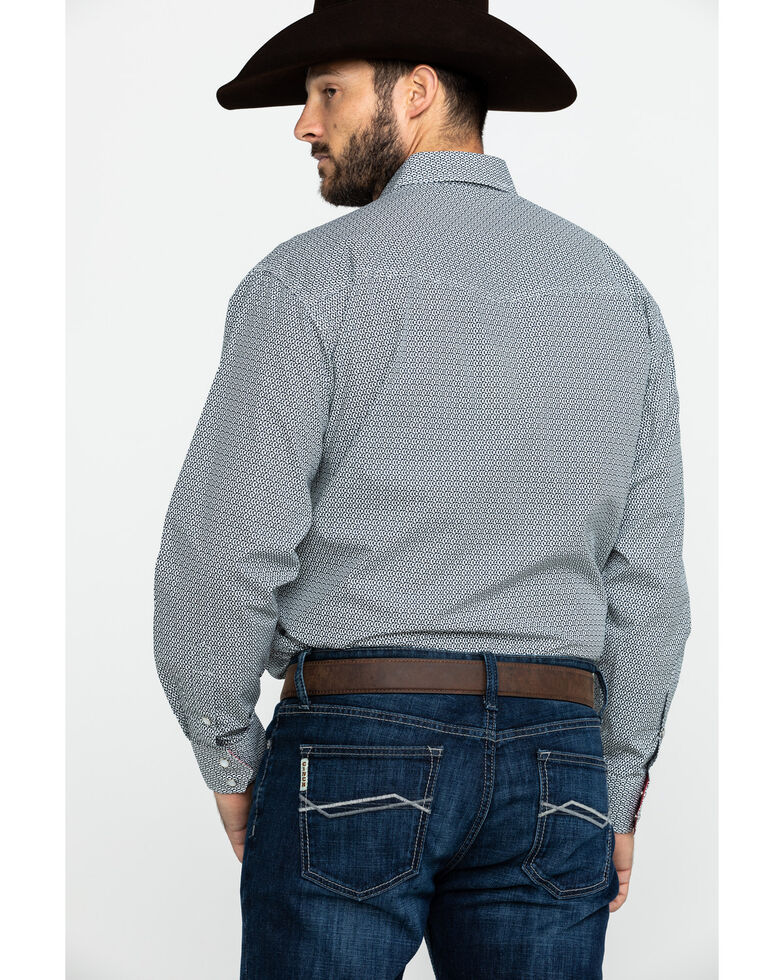 Resistol Men's Willow Geo Print Long Sleeve Western Shirt , Black, hi-res