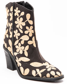 Free People Women's Barclay Fashion Booties - Round Toe, Black, hi-res