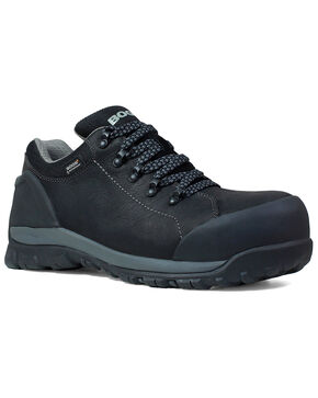 Bogs Men's Foundation Black Waterproof Work Boots - Composite Toe, Black, hi-res