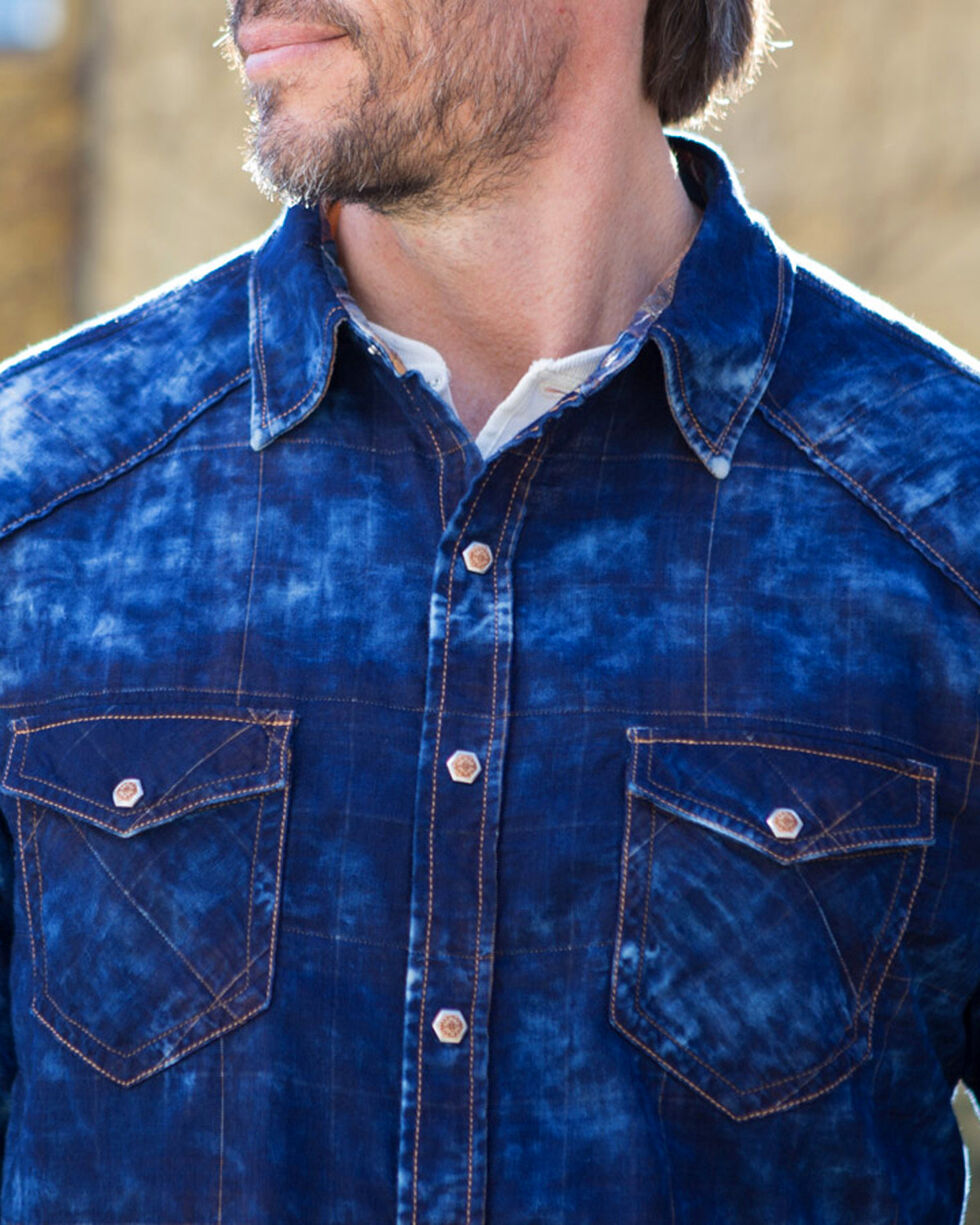 Ryan Michael Men's Indigo Double Cloth Shirt , Indigo, hi-res