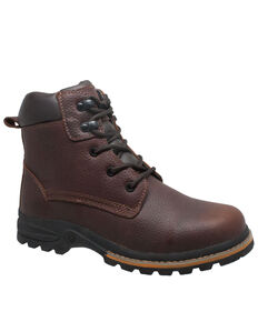 Ad Tec Men's Brown Oiled Work Boots - Soft Toe, Brown, hi-res
