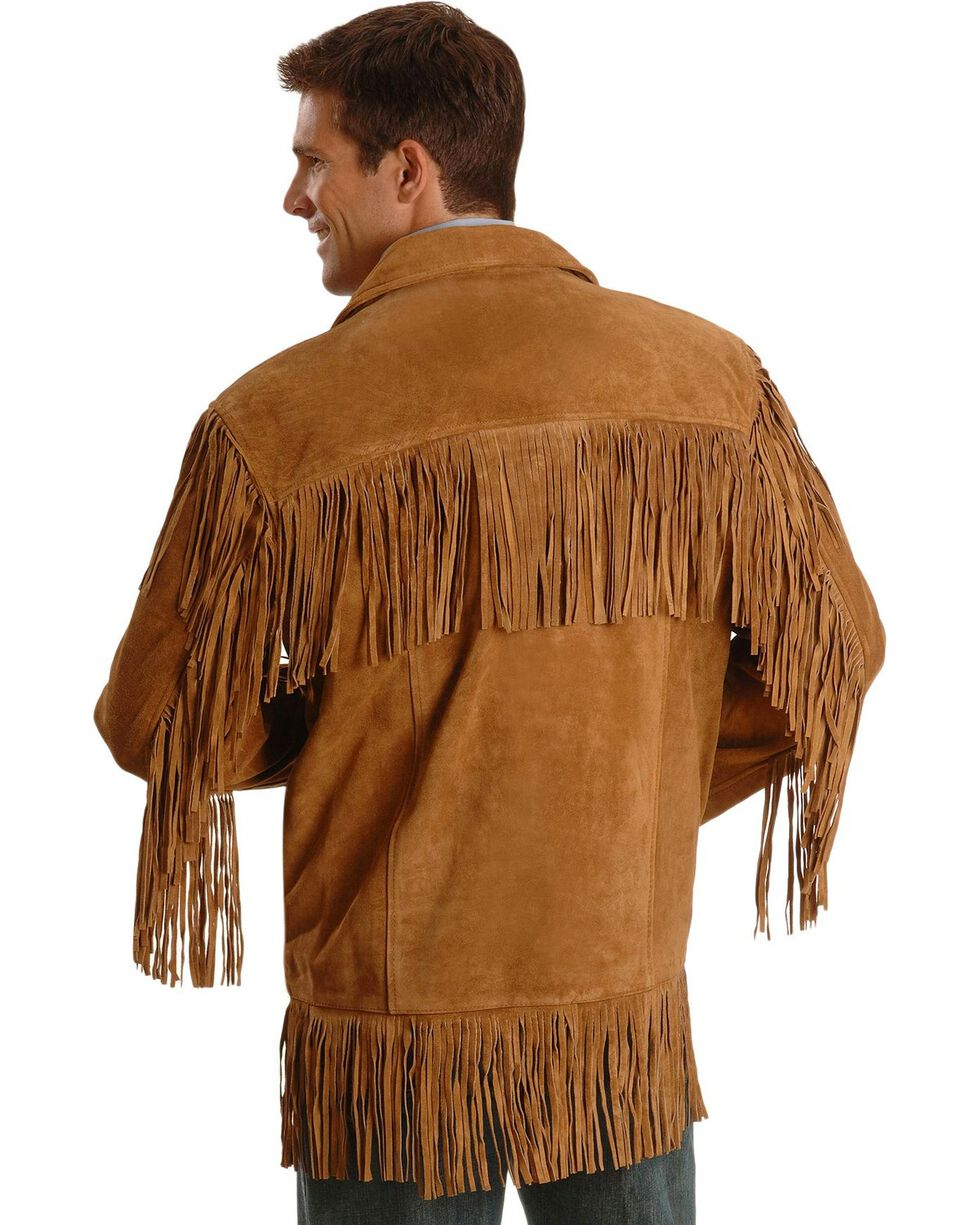 Liberty Wear Men's Suede Fringe Western Jacket - Big & Tall - 4XL, 5XL, Tobacco, hi-res