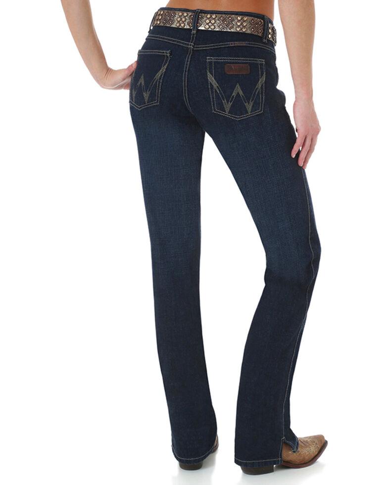 Wrangler Women's Cash Vented Boot Cut Ultimate Riding Jeans, Blue, hi-res