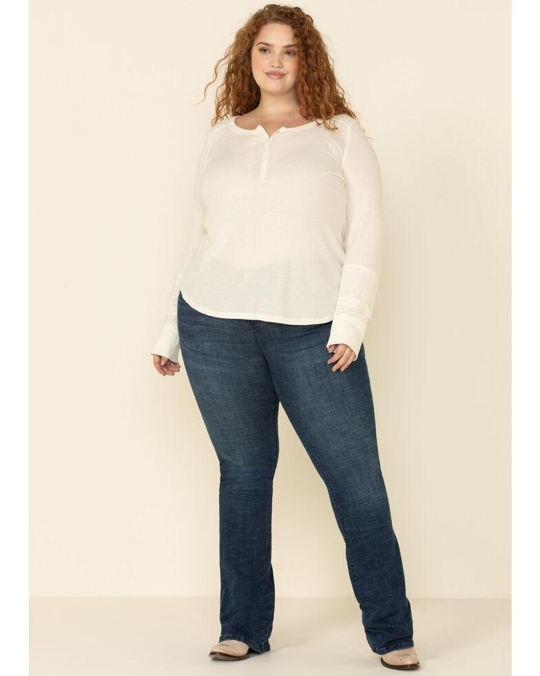 Ranch Dress'n Women's Serape Bootcut Jeans - Plus, Blue, hi-res