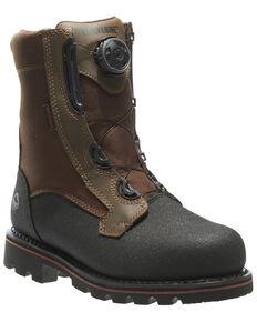 Wolverine Men's Drillbit Oil Rigger Waterproof Work Boots - Steel Toe, Brown, hi-res