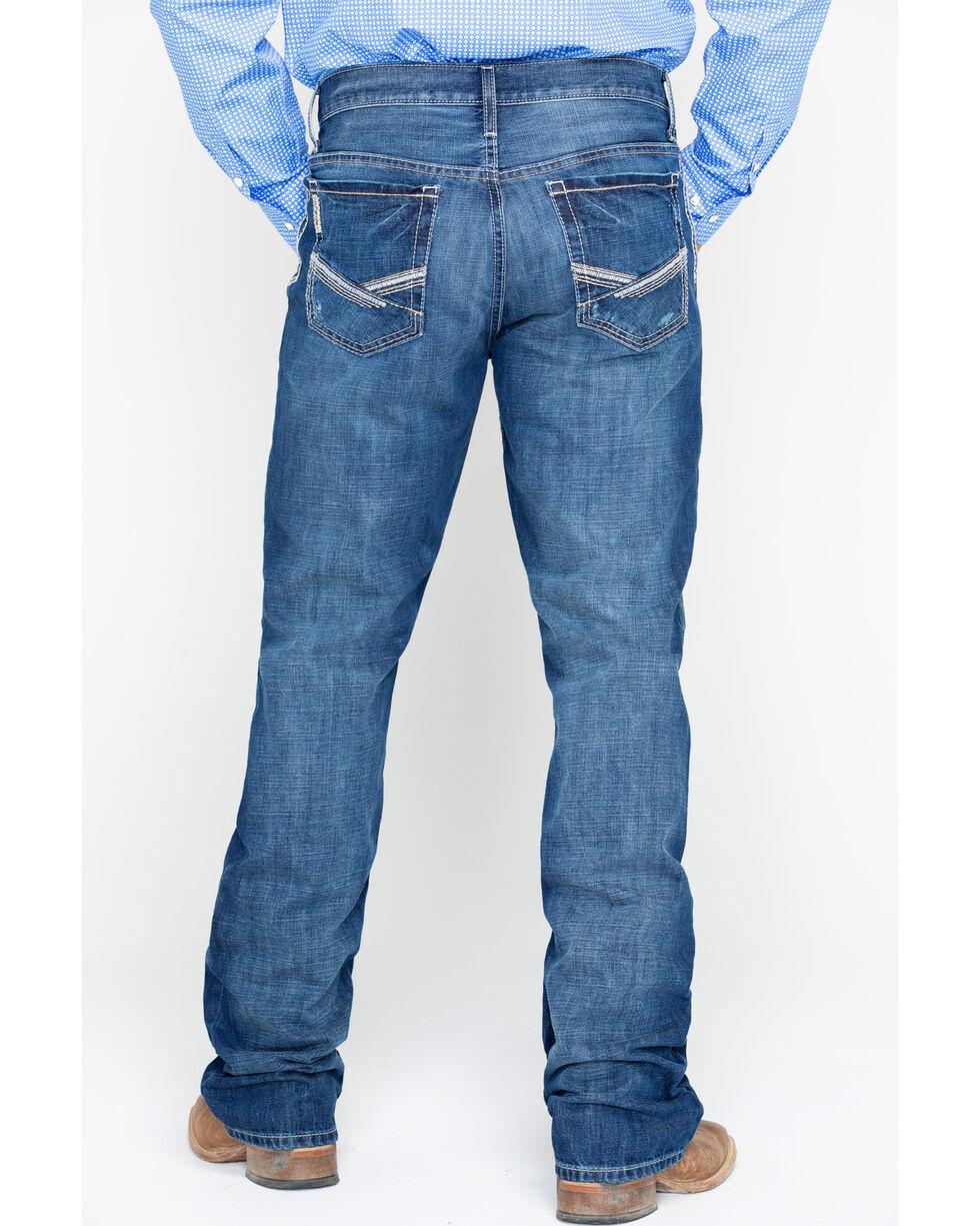 Cinch Men's Ian Dark Stonewash Slim Fit Boot Cut Jeans, Indigo, hi-res