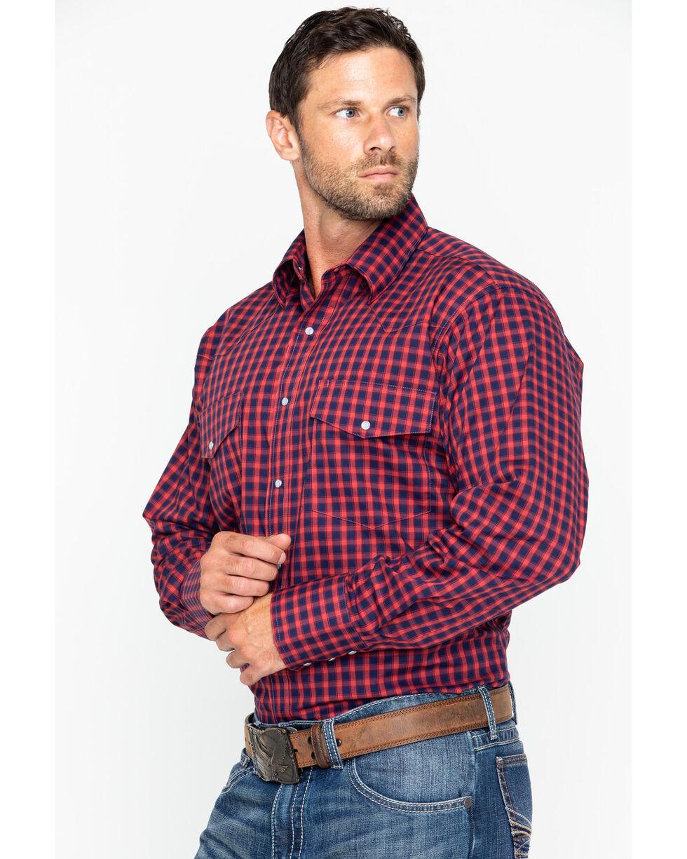 Wrangler Men's Wrinkle Resist Small Plaid Long Sleeve Western Shirt , , hi-res