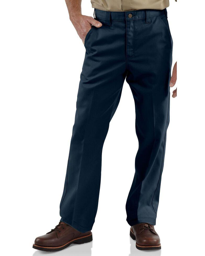 Carhartt Men's Twill Work Pants, Navy, hi-res