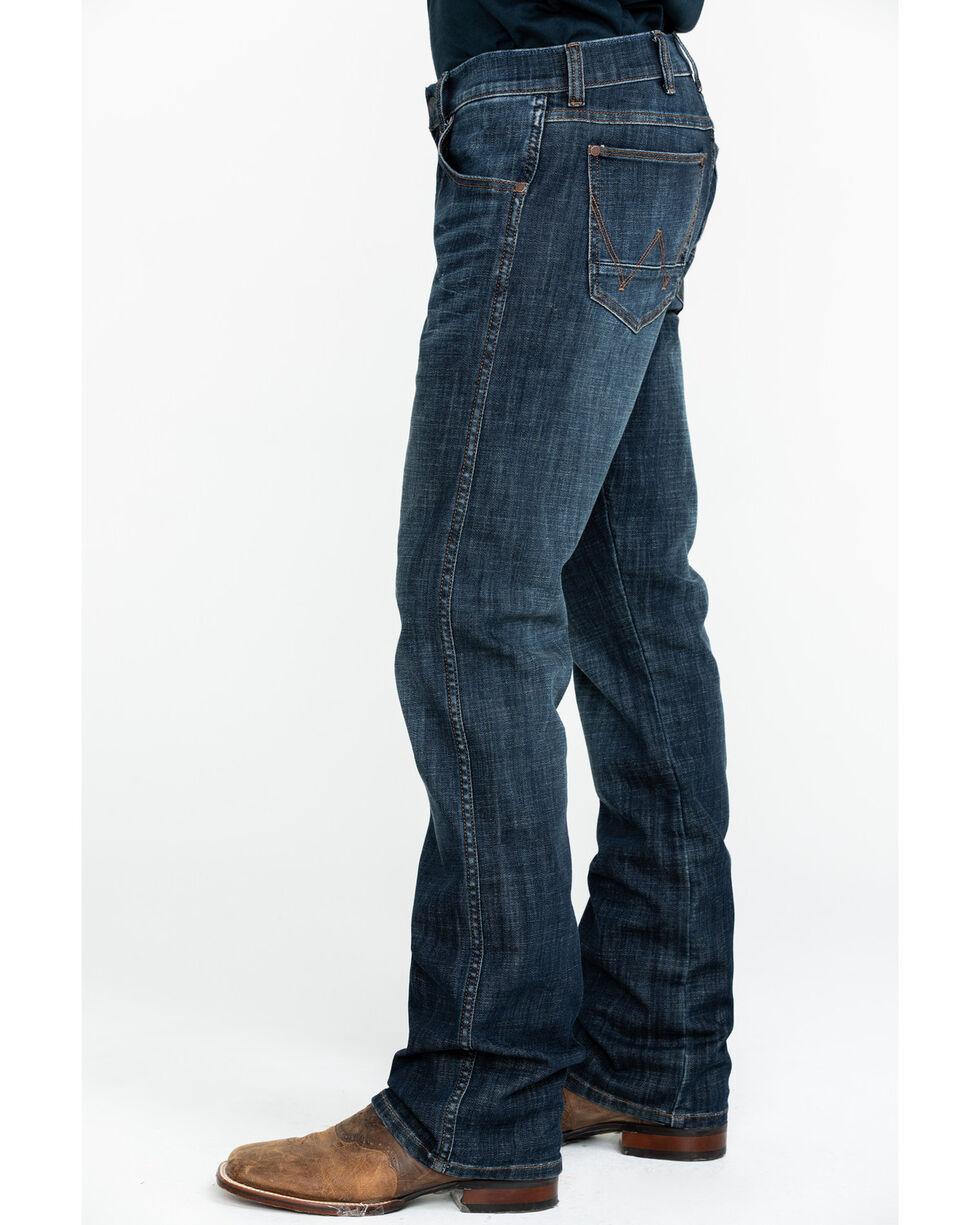 Wrangler Retro Men's Slim Boot Jeans , Dark Blue, hi-res