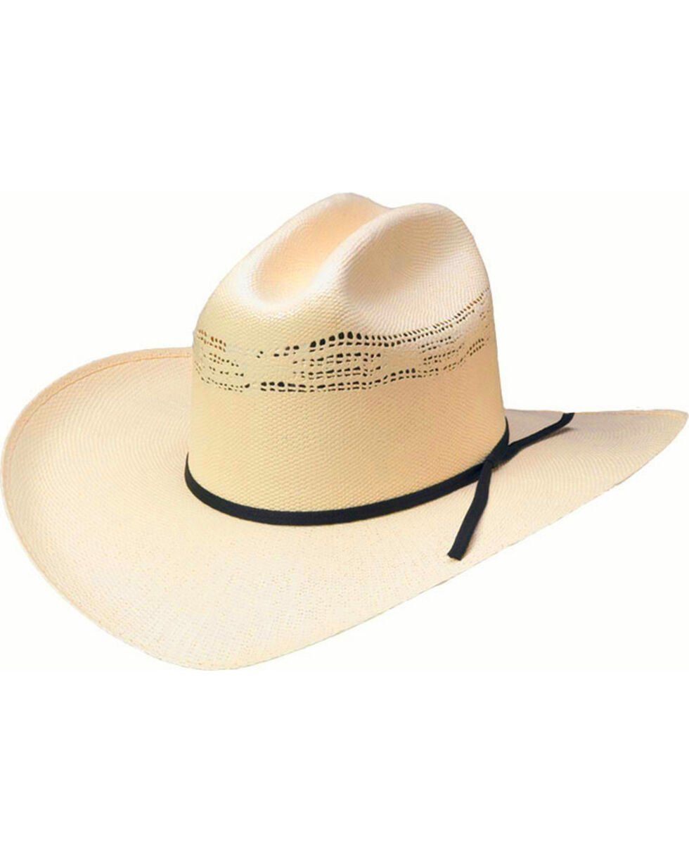 Western Express Youth's White Bangora Straw Hat , White, hi-res