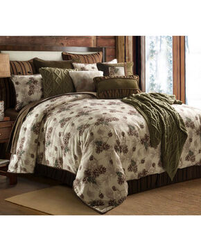 HiEnd Accents Forest Pine Queen Comforter Set, Multi, hi-res