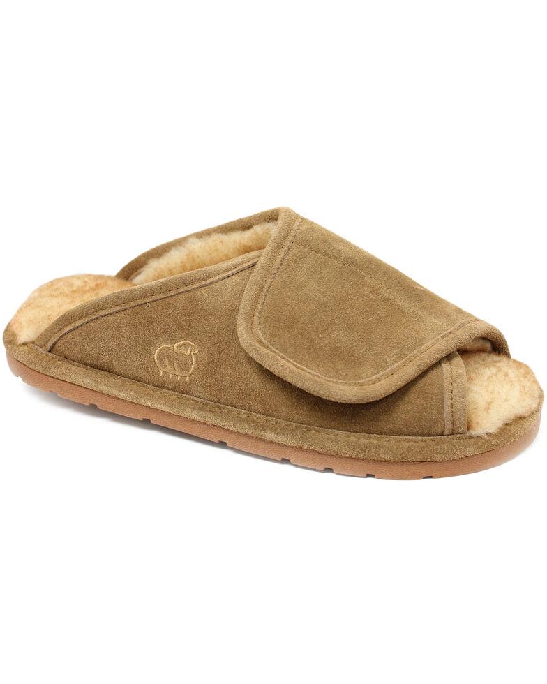 Lamo Footwear Men's Wrap Slippers, Chestnut, hi-res