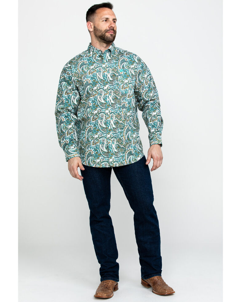 Cinch Men's Multi Paisley Print Long Sleeve Western Shirt , Multi, hi-res