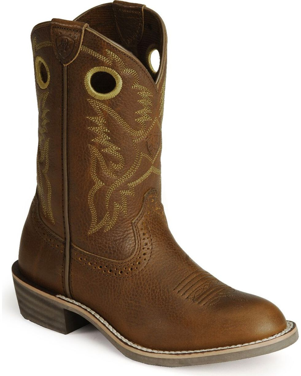 Ariat Kid's Rough Stock Western Boots, , hi-res