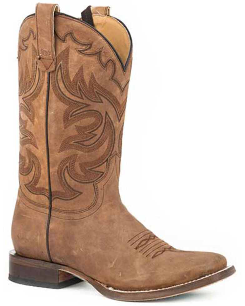 Roper Women's Oiled Brown Western Boots - Square Toe, Tan, hi-res