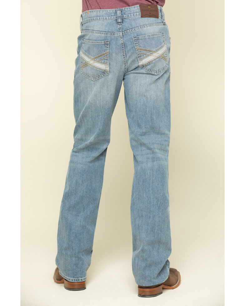 Cody James Men's Blue Shadow Light Wash Stretch Slim Bootcut Jeans , Blue, hi-res