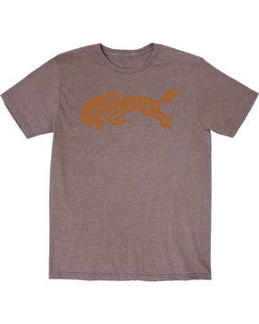 Wrangler Men's Western Bronco Short Sleeve T-Shirt, Brown, hi-res