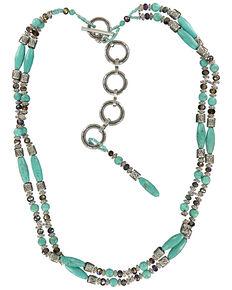 Ariat Women's Beaded Belt, Turquoise, hi-res