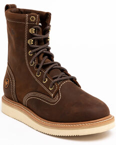 "Hawx® Men's 8"" Lacer Work Boots - Soft Toe, Brown, hi-res"