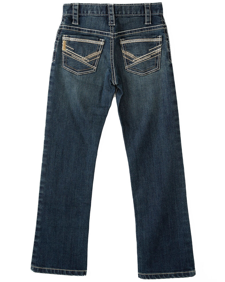 Cinch Boys' Indigo Dark Stone Performance Stretch Slim Straight Jeans - Little , Indigo, hi-res