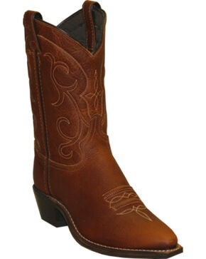 "Abilene Women's 9"" Soft Textured Western Boots, Brandy, hi-res"